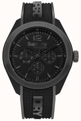 Superdry Navigator Posh Black Silicone Strap Grey Highlights SYG215EB