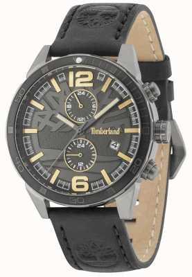 Timberland Sagamore Black Dial Black Leather Strap 15256JSUB/61