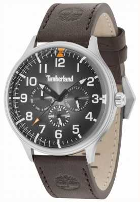Timberland Blanchard Black Dial Dark Brown Leather Strap 15270JS/02