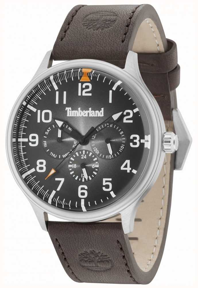 Timberland Blanchard Black Dial Dark Brown Leather Strap 15270JS 02 ... fb4a5e49ed6
