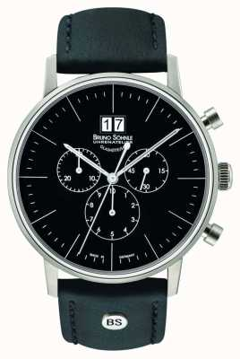 Bruno Sohnle Stuttgart Chronograph 42mm Quartz Stainless Steel Black Dial 17-13177-741