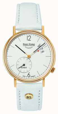 Bruno Sohnle Womans Rondo 33mm White Dial Date Display 17-33192-263