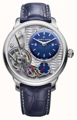 Maurice Lacroix Masterpiece Gravity 25th Anniversary Blue Leather Strap MP6118-SS001-434-1