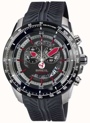 Breil Abarth Stainless Steel IP Chronograph Black & Red Dial TW1488