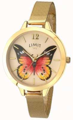 Limit Womens Secret Garden gold mesh butterfly watch 6276.73