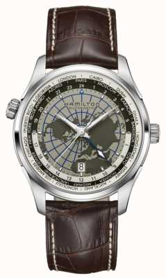 Hamilton Mens Jazzmaster GMT Automatic World Dial H32605581