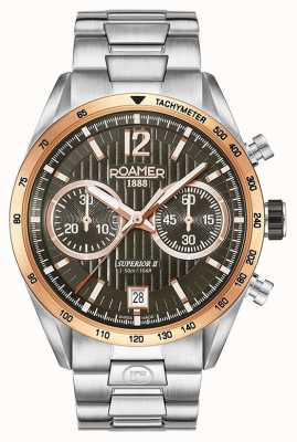 Roamer Mens Superior Chrono II Silver Bracelet Watch 510902496450