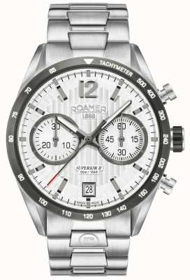 Roamer Mens Superior Chrono II Silver Bracelet Watch 510902411450