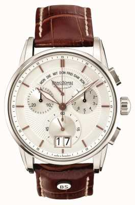 Bruno Sohnle Grandioso 42.5mm Brown Leather Chronograph 17-13117-245