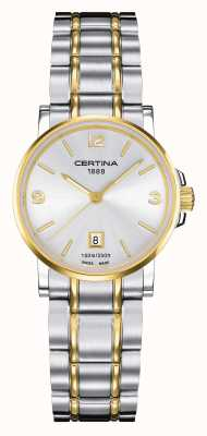 Certina Womens Ds Caimano Two Tone Watch C0172102203700