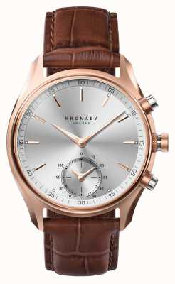 Kronaby 43mm SEKEL *Seen In GQ Bluetooth RoseGold/Leather Smartwatch A1000-2746