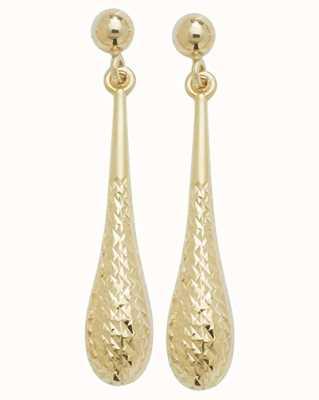 Treasure House 9k Yellow Gold Drop Stud Earrings ES422
