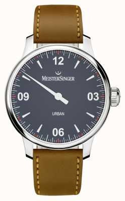 MeisterSinger Urban Blue Brown Leather Strap UR908