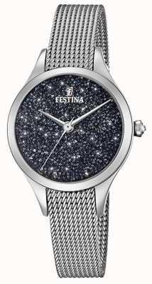 Festina Ladies Watch With Swarovski Crystals Mesh Bracelet F20336/3