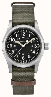 Hamilton Khaki Field Mechanical Nylon Green Strap H69429931