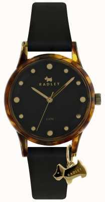 Radley Ladies Black 33mm Case Black Dial Black Dog Charm RY2640