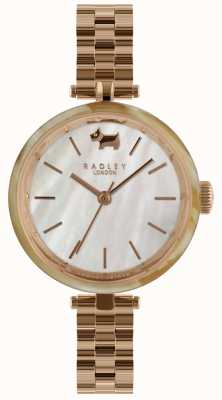 Radley Ladies 34mm Case Horn Bez White Dial RY4330
