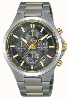 Pulsar Titanium Chronograph Two Tone Bracelet PM3113X1