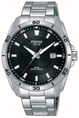 Pulsar Stainless Steel Black Dial Date Display PX3151X1