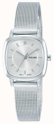 Pulsar Womens Stainless Steel Mesh Bracelet 30m Resistance PH8375X1