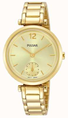Pulsar Womens Gold Toned Bracelet Gold Dial PN4068X1