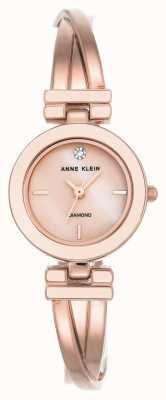 Anne Klein Womens Leah Rose Gold Tone Bracelet And Dial AK/N2622LPRG
