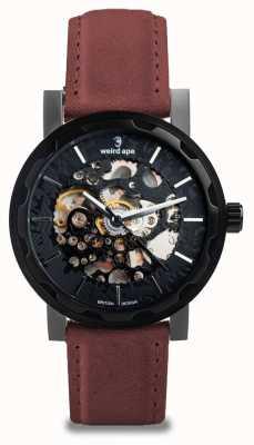 Weird Ape Kolt Automatic Royal Blood Suede Leather Black IP Case WA02-005541