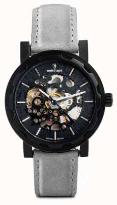 Weird Ape Kolt Automatic Slate Grey Suede Leather Black IP Case WA02-005512