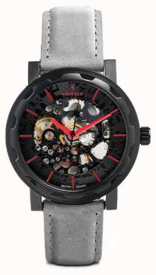 Weird Ape Kolt Automatic Slate Grey Suede Leather Black IP Case WA02-005503