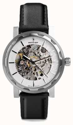 Weird Ape Kolt Automatic Black Leather Strap Stainless Steel Case WA02-005531