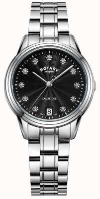 Rotary Women's Cambridge Stone Set SS Bracelet watch LB05258/13
