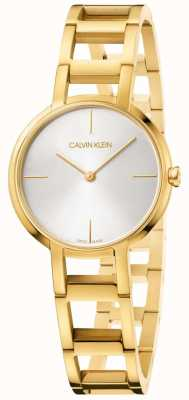 Calvin Klein Ladies Cheers Yellow Gold Watch K8N23546