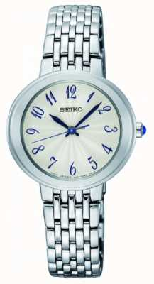 Seiko Ladies Silver Quartz Bracelet White Face SRZ505P1