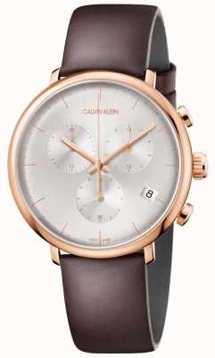 Calvin Klein Mens High Noon Rose Gold Case Date Display Chronograph K8M276G6