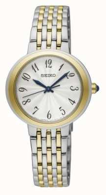 Seiko Ladies Two Tone Silver And Gold Bracelet Watch SRZ506P1