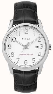Timex Easy Reader Signature With Date 38mm Leather Watch TW2R64900