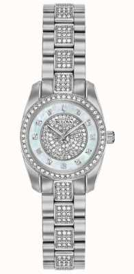 Bulova Womens Crystal Set Stainless Steel 96L253