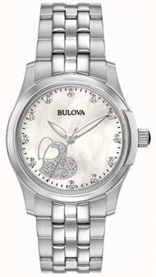 Bulova Womens Classic Heart Stainless Steel 96P182