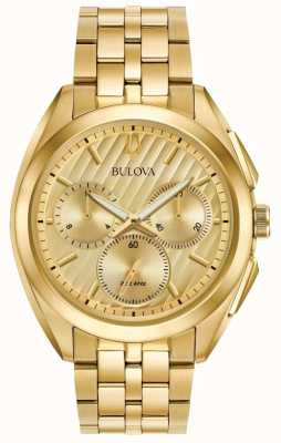 Bulova Mens Curv Chronograph Dress Progressive 97A125