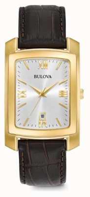 Bulova Mens Dress Brown Leather Strap 97B162