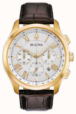 Bulova Men's Classic Brown Leather Strap 97B169