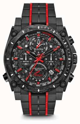 Bulova Precisionist Chronograph Black Red UHF 98B313