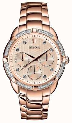 Bulova | Diamond Womens Rose Gold Dial | 98W178