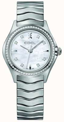 EBEL Wave 66 Diamond Set Quartz 30mm mother of pearl Ladies Watch 1216194