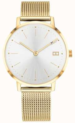 Tommy Hilfiger Womens Pippa Watch Gold Tone Mesh Strap 1781927