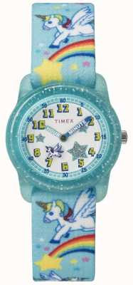 Timex Youth Analog 28mm Teal Rainbow Unicorn TW7C256004E