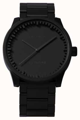 Leff Amsterdam Tube Watch S38 Black Case Black Bracelet LT71102