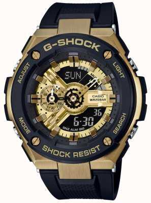 Casio G-Shock G-Steel Black And Gold GST-400G-1A9ER