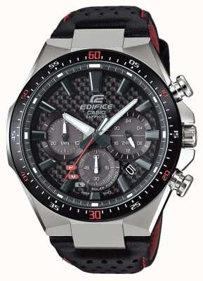 Casio Edifice Solar Sapphire Glass Carbon Effect Dial Leather EFS-S520CBL-1AUEF