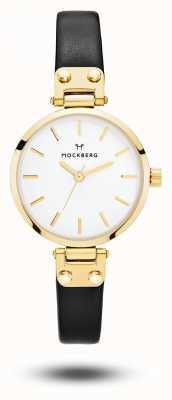 Mockberg Saga Petite Black Strap White Dial MO207